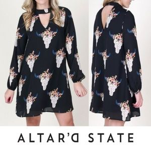 Altar'd State Southwestern Vibes Dress Long Sleeve